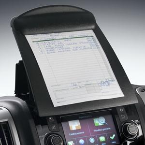 Tablette écritoire avec pince porte documents